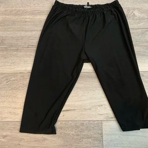 Crop polyester leggings Large